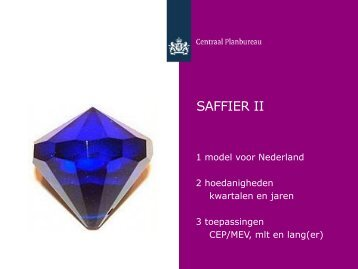 """[PDF] Presentatie """"SAFFIER II&quot - Centraal Planbureau"""