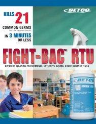 92061-92 Fight- Bac Sell Sheet - Betco Corporation
