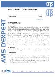 web services – offre microsoft microsoft.net - Devoteam
