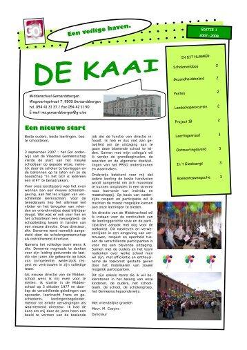 De Kaai 1.pub - Middenschool Geraardsbergen