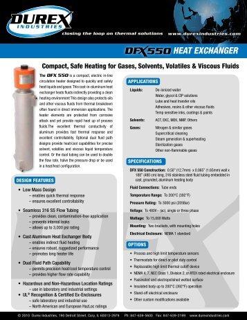 DFX 550 Exchanger Information Sheet - Durex Industries