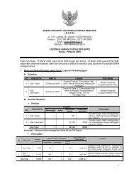 Laporan Harian 19 Maret 2009 - BNPB