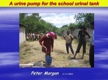 A urine pump for the school urinal tank - EcoSanRes