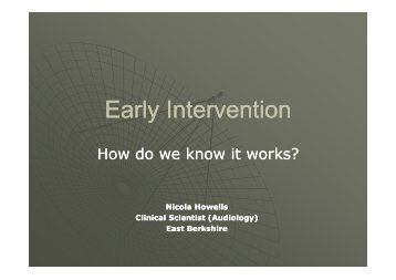 Early Intervention Early Intervention - batod