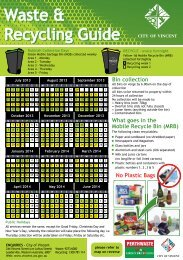 Rubbish Bin and Recycling Bin Collection Guide ... - City of Vincent