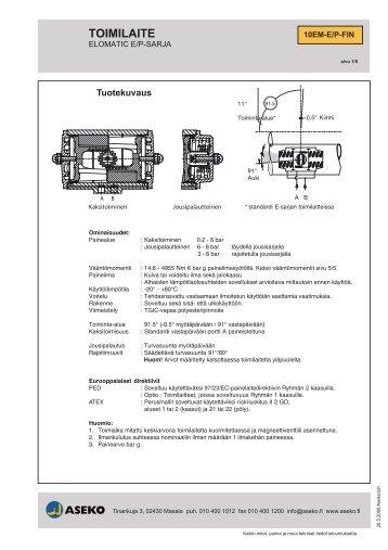 Tekninen esite, El-o-matic E- ja P -sarja, 10EMEPFI