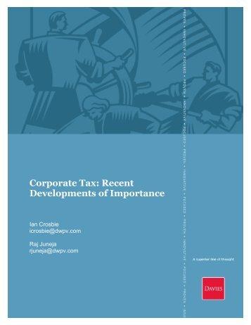 Corporate Tax - Davies