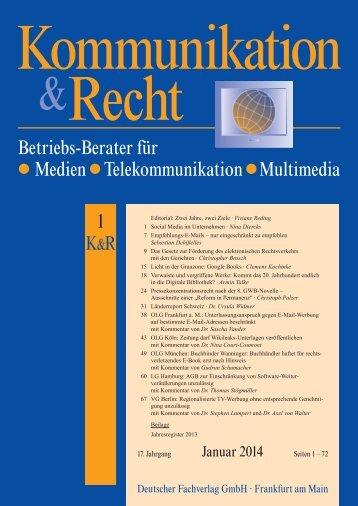 Betriebs-Berater für Medien Telekommunikation Multimedia 1