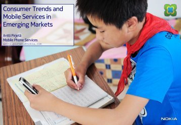 Consumer Trends and Mobile Services in Emerging ... - FinNode