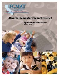 Atwater ESD final report - Kern County Superintendent of Schools