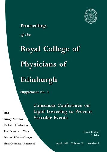 CONSENSUS CONFERENCE ON LIPIDS - Royal  College of ...