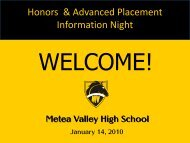 Honors - Metea Valley High School