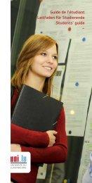 Guide de l'étudiant Leitfaden für Studierende ... - Luxembourg