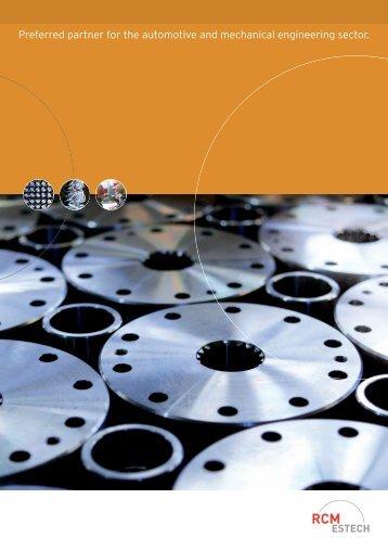 Preferred partner for the automotive and mechanical - RCM-Estech AG