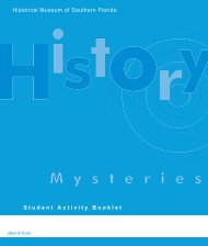 Student Activity Booklet Historical Museum of Southern Florida