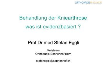 Behandlung der Kniearthrose was ist evidenzbasiert ?