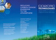 Specialists in Carbon Capture and Storage (PDF 1Mb) - CO2CRC