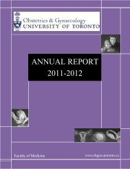 Annual Report 2011-12 - University of Toronto Department of ...