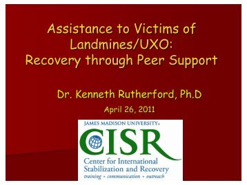 Kenneth Rutherford: Psychological Assistance and Rehabilitation