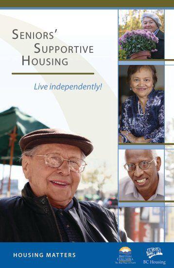 SENIORS' SUPPORTIVE HOUSING - BC Housing