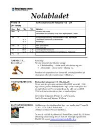 Nolabladet nr 28, vecka 13-14 - Nolaskolan