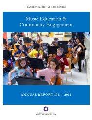 Music Education & Community Engagement - National Arts Centre