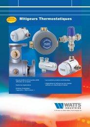 Mitigeurs Thermostatiques - Watts Industries