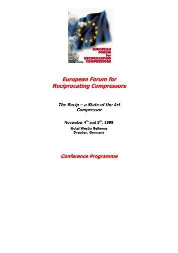 European Forum for Reciprocating Compressors