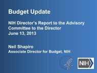 Budget Update - Advisory Committee to the Director