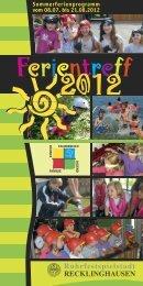 Ferientreff 2012 - Stadt Recklinghausen