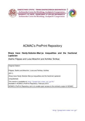 Download (931Kb) - ACMAC's PrePrint Repository
