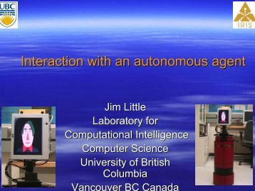 Interaction with an autonomous agent