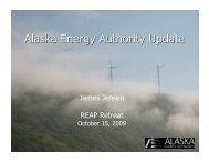 James Jensen – AEA - Renewable Energy Alaska Project