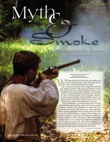 Myth & Smoke - New Hampshire Fish and Game Department