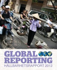 HÃ¥LLBARHETSRAPPORT 2012 - Global Reporting