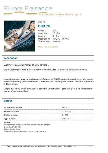 CNB 76 - Riviera Plaisance