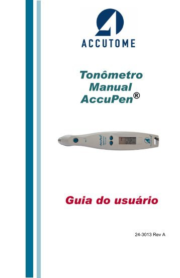 AccuPen User Manual - accutome ultrasound support