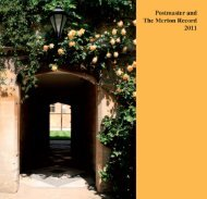 MER-13565 COVER 2011.indd - Merton College - University of Oxford