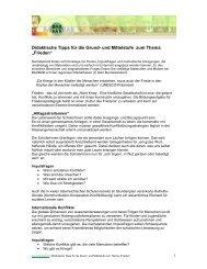 Didaktische Tipps für die Grund- und Mittelstufe zum ... - Baobab