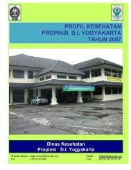 profil kesehatan propinsi di yogyakarta tahun 2007 - Departemen ...