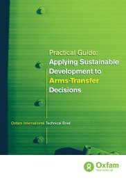 Applying Sustainable Development to Arms Transfer - Control Arms