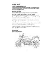 CB600F Hornet 2007-08 käsikirja (.pdf, 2.83 MB) - Honda