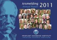 Årsmelding 2011 - Fridtjof Nansens Institutt