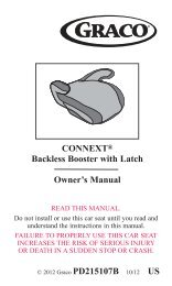 CONNEXT® Backless Booster with Latch Owner's Manual - Graco