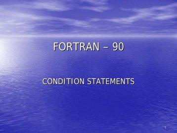 FORTRAN – 90