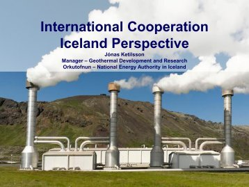 International Cooperation Iceland Perspective - Georg