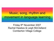 Music, song, rhythm and movement in language ... - Rachel Hawkes