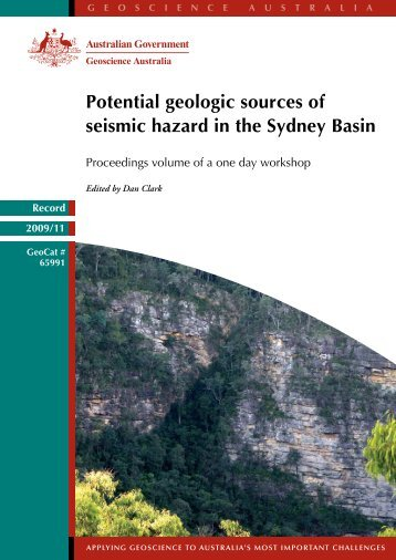 Record 2009/11 Potential geologic sources of seismic hazard in the ...