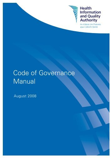Code of Governance Manual - hiqa.ie