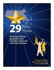 Honoring 29 stellar graduates of our 29 public college and university ...